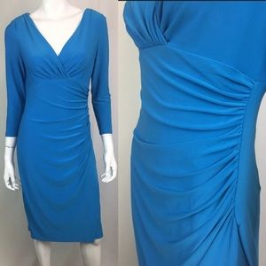 Ralph Lauren Stretchy Jersey Faux-Wrap Dress